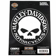 Biker Harley Davidson HD Willie Skull Logo Chrom Emblem Aufkleber Decal Sticker