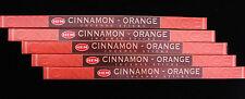 40 Sticks 5 x 8g Packs HEM CINNAMON & ORANGE Fruity Spice Incense Scent Insence