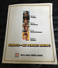 1973 Sunoco Penske McLaren M16 Eagle USAC Race Car Press Kit Mark Donohue