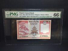 "2012 Nepal, Central Bank 5 Rupees P-69a "" Ascending Ladder "" PMG 66 EPQ"