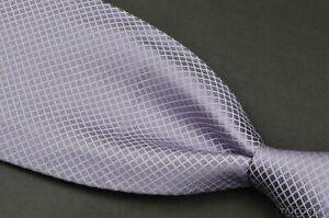 "STEFANO RICCI Purple Diamond Check 100% Silk JEWEL GEM STONE Luxury Tie - 4.00"""