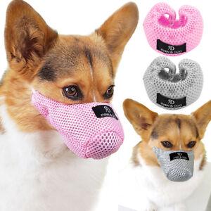 Adjustable Pet Dog Muzzle Soft Mesh Mouth Cover Mask Breathable Anti Bark Bite
