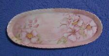 Verla Franchi Decorative Plate Oval Floral Plate Trinket Dish or Jewelry Holder