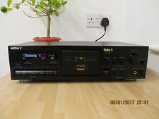 Sony TC-K611S 3 Head Stereo Deck. New Belts, Pinch Roller and Dolby S