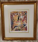 Marc Chagall Lithograph Sorcerers of Music. Hand-Numbered Signed Framed Matted.