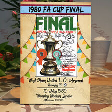 West Ham United 1980 FA Cup Final Programme-West Ham Gift-Free-standing Plaque