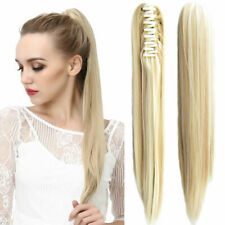 """15""""-24"""" Straight Claw Jaw Clip On Human Ponytail 100% Human Remy Hair Extension"""