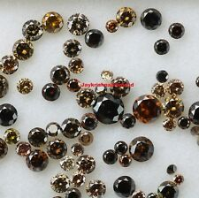 1.06 ct lot Natural Loose Fancy Dark Brown Color Round Shape Diamond 1.5-2.0 MM.
