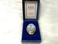 Halcyon Days Enamels Big Ben Clock Tower Trinket Box Oval Porcelain Box England