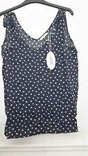 Esprit EDC T Shirt Vest Top Sleeveless Scoop Neck New Navy party top Size Small