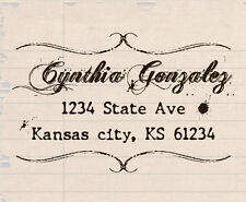 custom self inking personalized office business return address rubber stamp