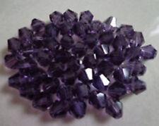 100pcs swarovski Crystal 4mm 5301# Bicone Beads Purple