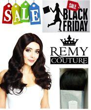 HONEY WIG Col 1/1B 100% Human Hair Couture Monofilament mono - BLACK FRIDAY DEAL