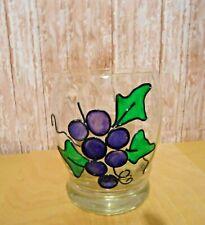 "7"" x 5"" Heavy Duty Gallery Glass Grape Design Stained Glass Window Vase"