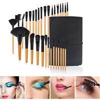 Woman 32Pcs Makeup Brush More Set  Powder Foundation Eyebrow Blush Cosmetic Bag