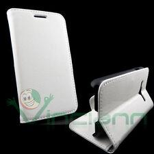 Custodia FLIP linguetta BIANCA per Samsung Galaxy Trend 2 SM-G313 cover STAND