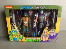 NECA Leonardo and Shredder TMNT Teenage Mutant Ninja Turtles cartoon