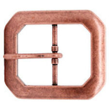 "Antique Copper Plated Clipped Corner Belt Buckle 1-1/2"" 1587-10"