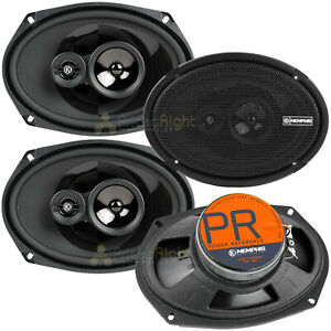 """Memphis Audio 6x9"""" 3 Way Coaxial Speaker 120 Watts Max Power Reference - 2 Pair"""