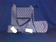 Vera Bradley Mini Hipster Crossbody Bag Moonlight Navy Microfiber Retail