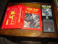 Star Ship (Atari 2600, 1977) Gatefold Box CIB Complete *TESTED*