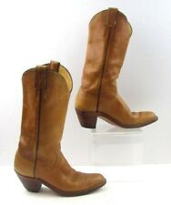 Ladies Justin Brown Leather Cowgirl Western Boots Size: 7.5 B