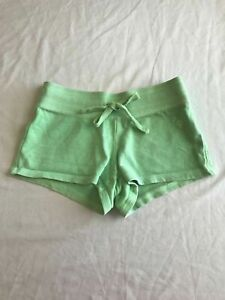 Girl's Sz 6 Justice Solid Lime Green Gym Lounge Casual Shorts Tie Waist B31