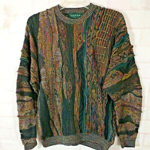 Tundra Canada Coogi Biggie Cosby Style Multicolor Sweater Men's XL