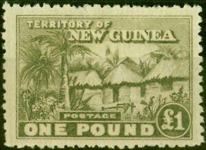 New Guinea 1925 Dull Olive-Green SG136 Fine Lightly Mtd Mint