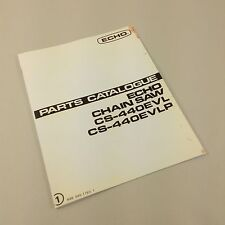 ECHO CS-440EVL CS-440EVLP CHAIN SAW PARTS CATALOG MANUAL CHAINSAW ILLUSTRATIONS