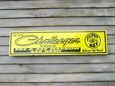 NEW! 1970'S ERA STYLE DODGE CHALLENGER W/SUPERBEE DEALER/SERVICE SIGN-GARAGE ART