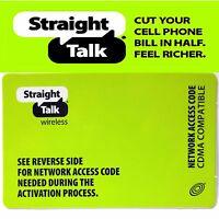 Straight Talk CDMA Network Access Code For Verizon & Sprint Phones