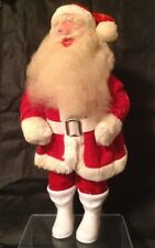 """VTG CHRISTMAS Santa Claus ---Red and White Suit ---White Plastic Boots 13"""""""