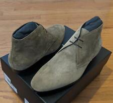 "$995 Mens Authentic Saint Laurent ""Wyatt"" Suede Chukka Boots Brown 46 US 13"