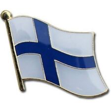 Finland Country Flag Bike Motorcycle Hat Cap lapel Pin