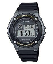 W-216H-1B Resin Band Digital  Alarms 7-Year Battery Life Men's Casio 50m