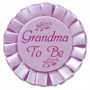 """Baby Shower Grandma To Be Satin Button 3.5"""" Baby Shower Decorations Supplies"""