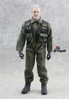 """1/6 Paratrooper F14/F15 Pilot Uniforms Green Jumpsuit Clothes Set For 12"""" Figure"""