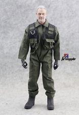 "1/6 Scale Green One-piece F14/F15 Pilot Uniform Jumpsuit Clothing For 12"" Figure"