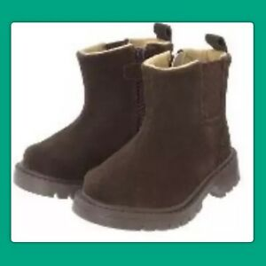 """NWT infants 4 Janie & Jack """"IN THE MOUNTAIN"""" Brown Suede Boot leather BOOTS"""