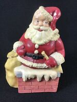 "VINTAGE CHARMING CHRISTMAS CERAMIC SANTA CLAUS 10"" BANK HOLIDAY DECORATION"