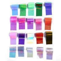 20pcs Nail Art Wraps Set Transfer Glitter Stickers Paper Decal Polish G2D3 EL