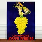 """Stunning Vintage Alcohol Poster Art ~ CANVAS PRINT 36x24"""" ~ Champagne Perrier"""