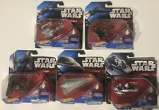 Lot of 5 STAR WARS Hot wheels die-cast Poe's X-Wing Fighter Tie Fighter NEW