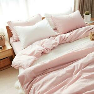 Pink Girl Bedding Sets Twin/Queen/King Duvet Cover with Pillowcase Home Texile