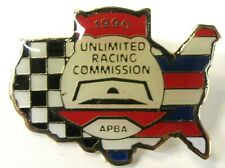1990 U.R.C. / A.P.B.A. SEASON PASS tack pin pinback Hydroplane Boat b1