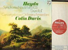9500 303 Colin Davis Haydn sinfonías Nº 87 y 103 Rollo De Tambor Reino Unido LP EX/EX PS