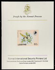 Lesotho (597) 1984 Butterflies 60s imperf on Format International PROOF  CARD