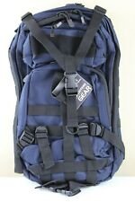 VISM Small Tactical Hunting Hiking Camping Backpack MOLLE Webbing Blue Black NEW