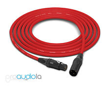 Canare Quad Cable L-4E6S | Neutrik Gold XLR-F XLR-M | Red 30 Feet | 30 Ft. | 30'